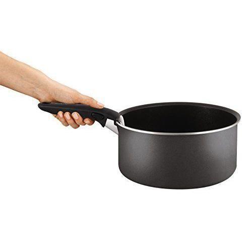 2c80ea741a28b Tefal L2049802 Set de poêles et casseroles - Ingenio 5 Essential Gris  Anthracite 8 Pièces - Tous feux sauf induction