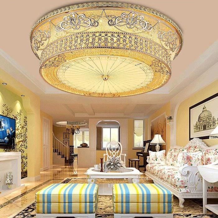 plafonnier led plafond salon chambre moderne minimaliste circulaire chaleureux et cr atif. Black Bedroom Furniture Sets. Home Design Ideas