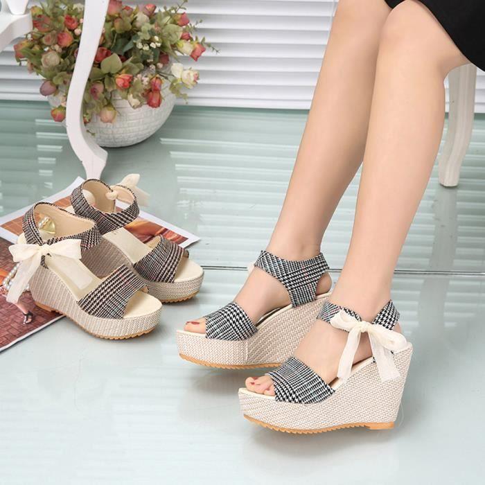 Napoulen®Femmes talon plein paillette Ballet Slip sur plats mocassins chaussures Dore-XYY70811512GD jhuaX