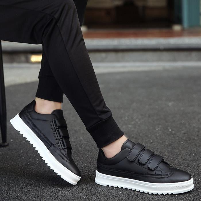 noir Augmentation automne Skateshoes couleur solide taille42 interne Velcro skate de Été Homme 6wxAx1nvH