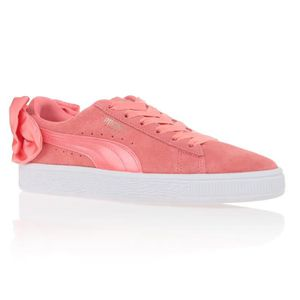 check out 4f700 dbdee BASKET PUMA Baskets Suede Bow Shell - Femme - Rose ...