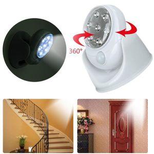 DÉTECTEUR DE MOUVEMENT Lampe LED Lumière 360° Détecteur Mouvement tourne