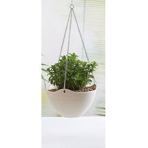 pot en plastique blanc pour plantes achat vente pas cher. Black Bedroom Furniture Sets. Home Design Ideas