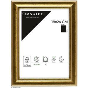 CADRE PHOTO Cadre photo Doré 18x24 cm - Ceanothe, marque franç