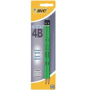 CRAYON GRAPHITE BIC Criterium 2 Crayons Graphites 550 4B