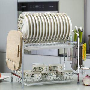 EGOUTTOIR À COUVERTS Égouttoir Vaisselles 2 Étages égouttoir pour Couve