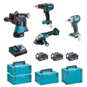 PACK DE MACHINES OUTIL MAKITA Kit MSM4T3BL3 18V (DHR243 + DTD148 + DGA504