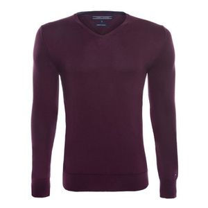PULL Tommy Hilfiger Hommes Pull Bordeaux