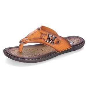 TONG Minetom Homme Eté Simple Style Flip-Flops Pantoufl