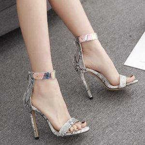 Hauts Couleur Femmes Motif Sandales Transparente Noir Talons Plastique Seule Chaussures À Serpent En I9WHYED2