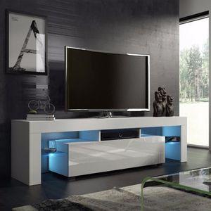 Meuble TV LED de salon Style moderne Blanc simple nordique - 45*130 ...