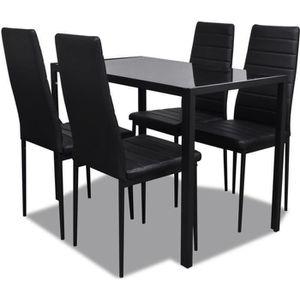 TABLE À MANGER COMPLÈTE 5 pcs Ensemble de table pour salle à manger Ensemb