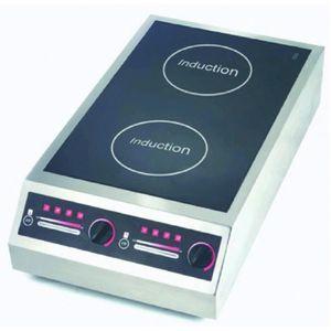 PLAQUE INDUCTION Plaque à induction double foyer - L400Lx P735 x H1