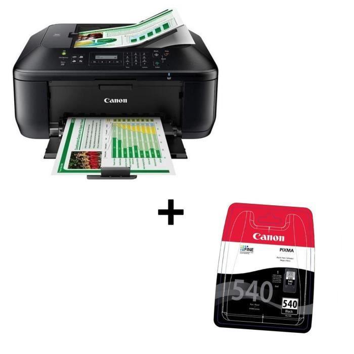 Pack CANON Imprimante multifonction 4 en 1 PIXMA MX475 + Cartouche PG-540 Noir
