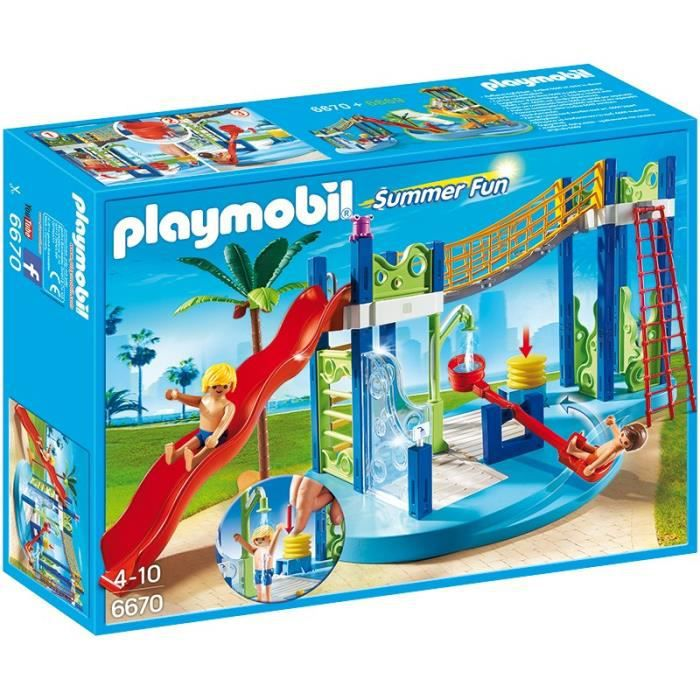 PLAYMOBIL Summer Fun 6670 - Aire de jeux aquatique