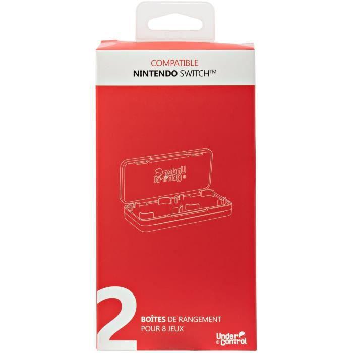 2 Boîtes de jeux avec 4 compartiments pour Nintendo Switch Proxima Plus