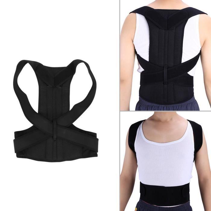 Ceinture posture Ceinture lombaire et Maintien droit Correction de posture  Ajustable Pour Homme et Femme (Taille XL) 98f79cda705