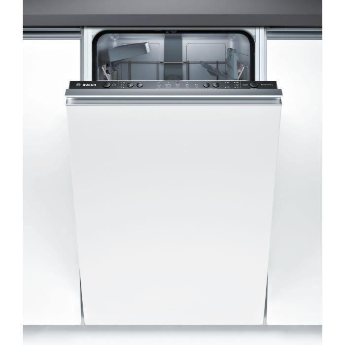 bosch spv25cx00e - lave vaisselle tout encastrable - 9 couverts - 45
