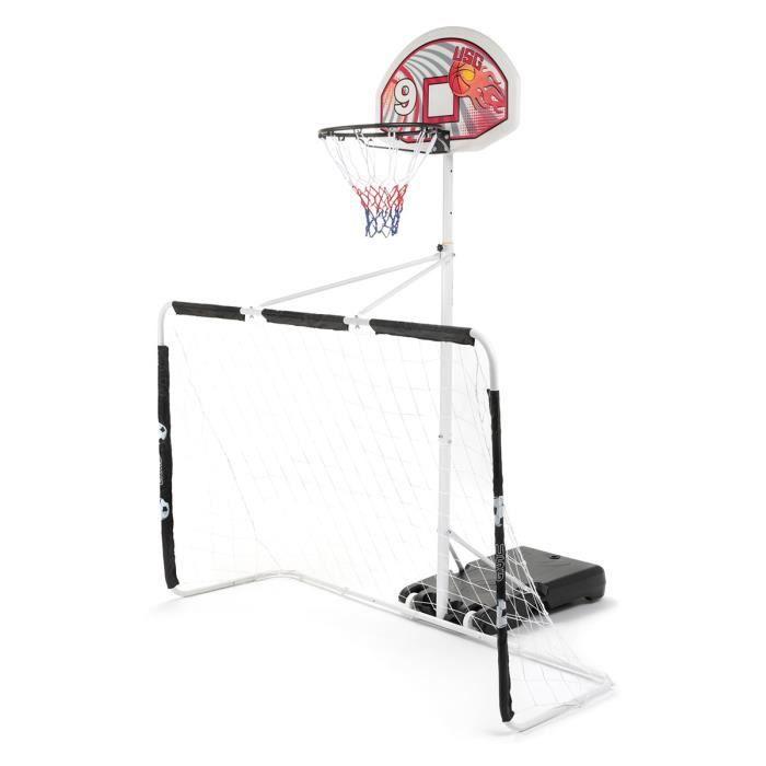 PANIER DE BASKET-BALL CDTS Ensemble Multi-Jeux, Panneau de Basket + But