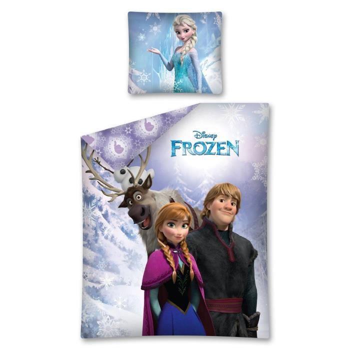 Parure La Reine Des Neiges Frozen Linge De Lit Housse De Couette