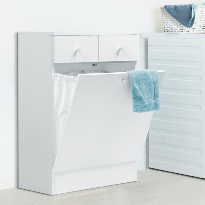 Meuble de salle de bain avec bac a linge - Achat / Vente pas cher