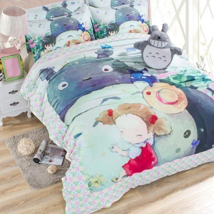 housse de couette totoro achat vente housse de couette totoro pas cher soldes d s le 10. Black Bedroom Furniture Sets. Home Design Ideas