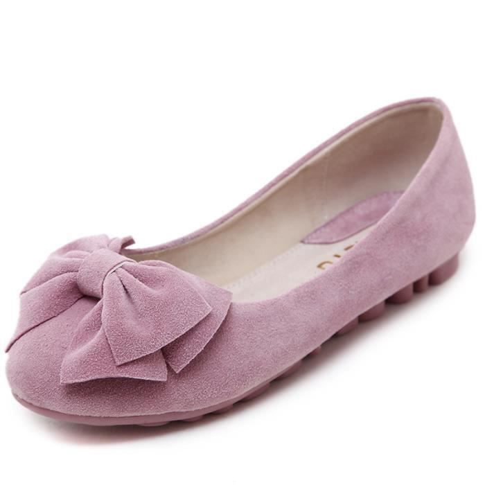 HEE GRAND Chaussure Mocassin Plate Pink