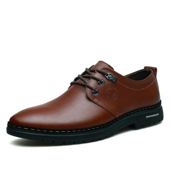IZTPSERG Richelieu Cuir Chaussure Homme