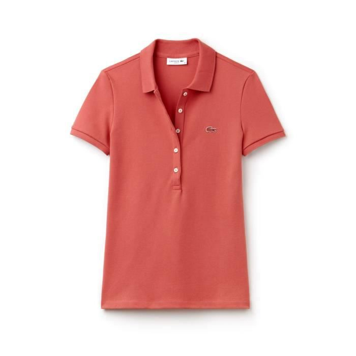 fc2632adc3 CHEMISE POLO LACOSTE PF7845-ZV9 ROSA Rouge Rouge - Achat / Vente ...