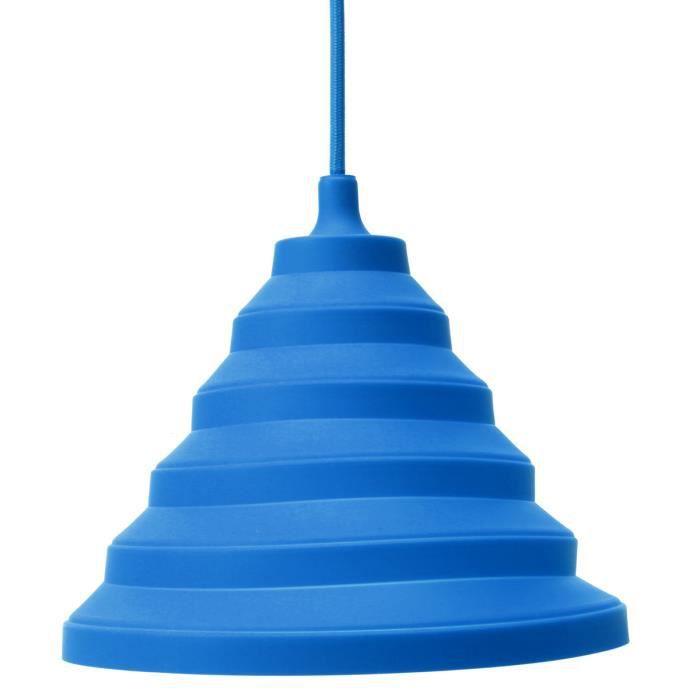e27 abat jour silicone douille pendentif plafond lampe ampoule edison sans ampoule bleu. Black Bedroom Furniture Sets. Home Design Ideas