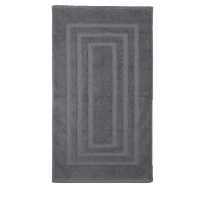 tapis de salle de bain gris anthracite achat vente. Black Bedroom Furniture Sets. Home Design Ideas