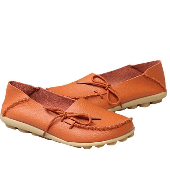 Solide Couleur Casual Mocassins Chaussures Mocassins en cuir PXJLY Taille-40