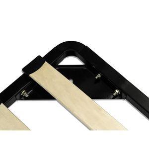lit cuir avec sommier 180x200 achat vente lit cuir avec sommier 180x200 pas cher soldes. Black Bedroom Furniture Sets. Home Design Ideas