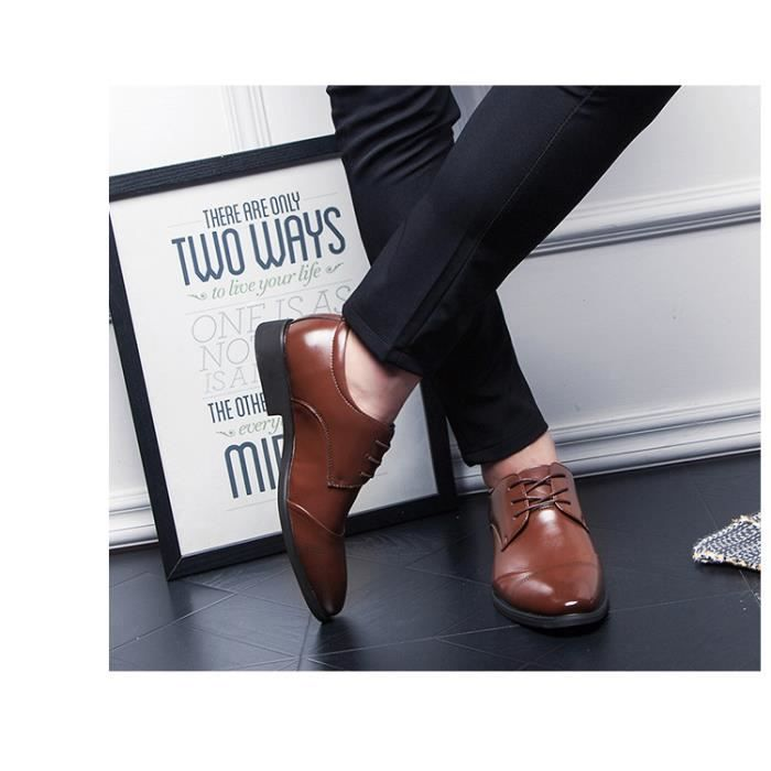 Hommes Flats Chaussures chaussures mocassins antidérapants Chaussures en cuir pour hommes taille 37-47 ZrXXA53