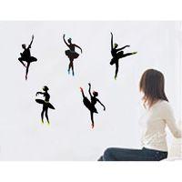 STICKERS Sticker mural danseuses étoile ballet