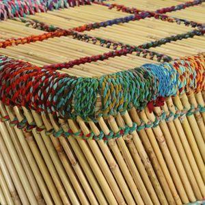 TABLE BASSE R68 Cette table basse en bambou entierement faite