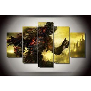 TABLEAU - TOILE Wall Art imprimer peinture 5 pièces Dark Souls jeu