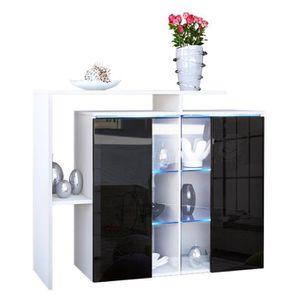 buffet noir achat vente pas cher cdiscount. Black Bedroom Furniture Sets. Home Design Ideas