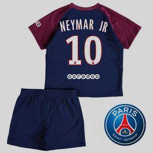 2017-2018 Neymar JR NO.10 Enfant Suit Paris Saint Germain Équipe Enfants  Maillot de Football Tops + Shorts . 8953aff0049