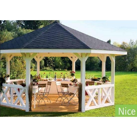 Pavillon de Jardin en Bois Nice Epaisseur Potea… - Achat / Vente ...