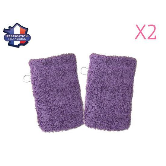 MODULIT  Lot de 2 petits gants de toilette d apprentissage pour bébé enfant  Violet - Achat   Vente eponge de bain 3553350010702 - Soldes  dès le 9  janvier ! 6dd1ca0a610