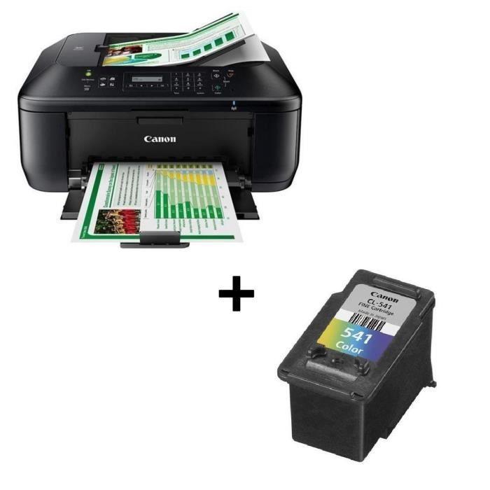 Pack CANON Imprimante multifonction 4 en 1 PIXMA MX475 + Cartouche d'encre couleur CL-541 (cyan, magenta, jaune)