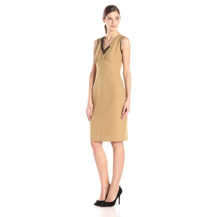 Anne Klein V-Neck taille empire robe fourreau