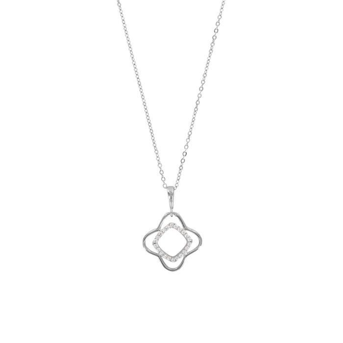 Jouailla - Collier argent 925-1000 rhodié et Oxydes de Zirconium