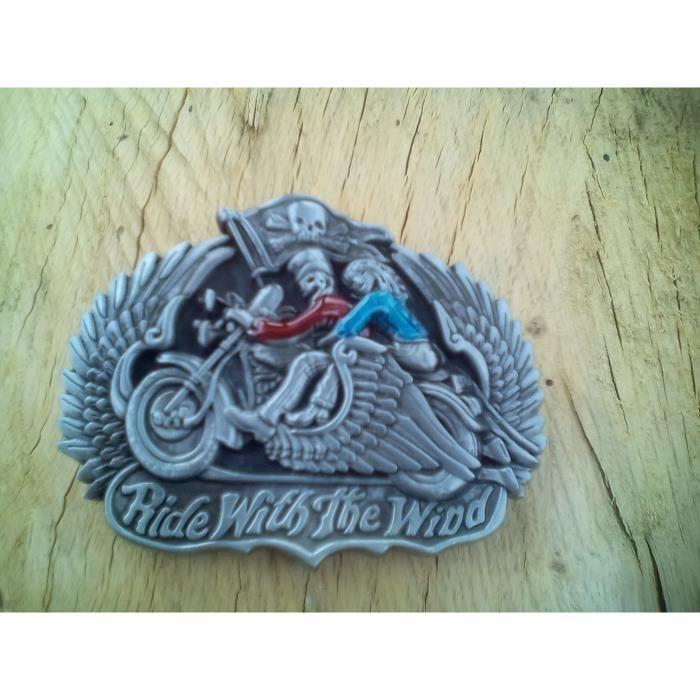 422d2a8f7a66 Boucle western moto avec 2 squelettes habiller - Achat   Vente ...