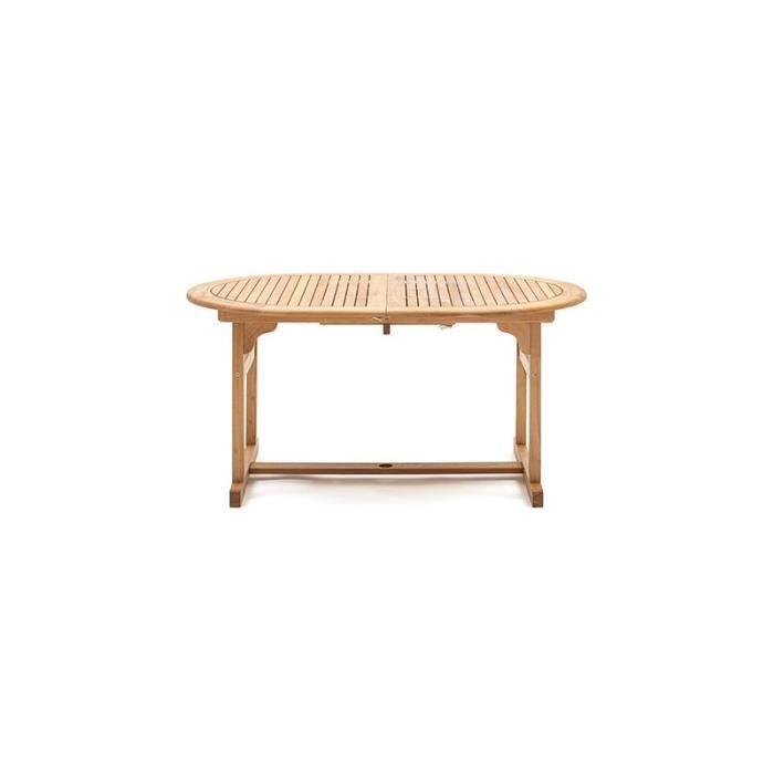 Table en robinier huile 150-200x100x74cm ref.10170