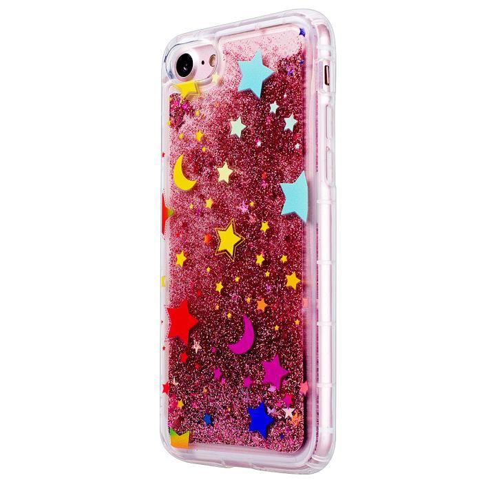 iphone 7 coque silicone glitter