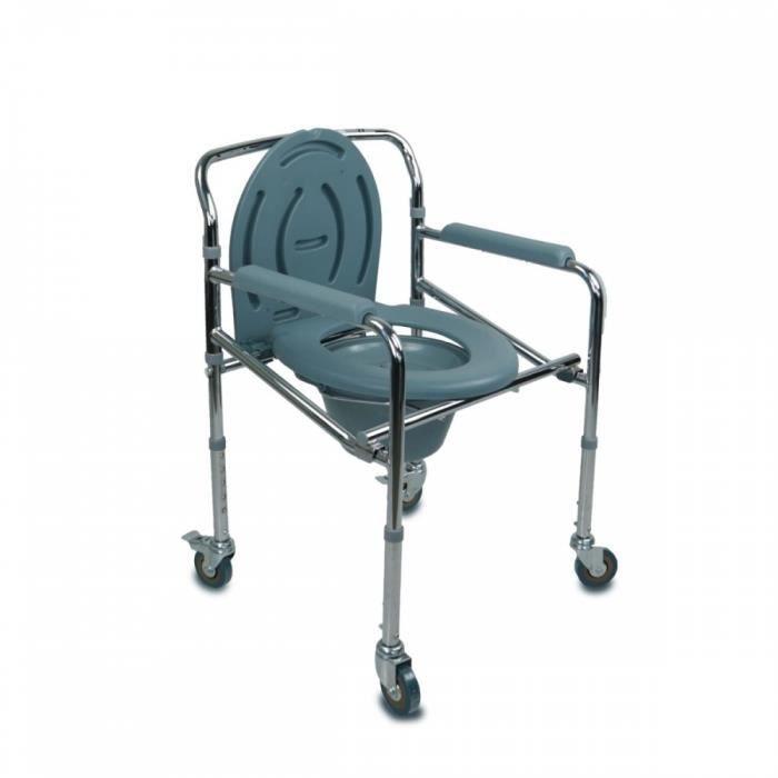Et chaise Percée WcPliableAvec Chaise CouvercleRoulettes stQrhd