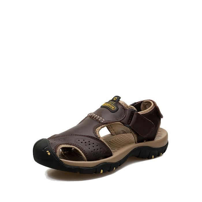 Hommes Sandales Casual Toe normale respirante Beach Tous les Chaussures Match 7447150