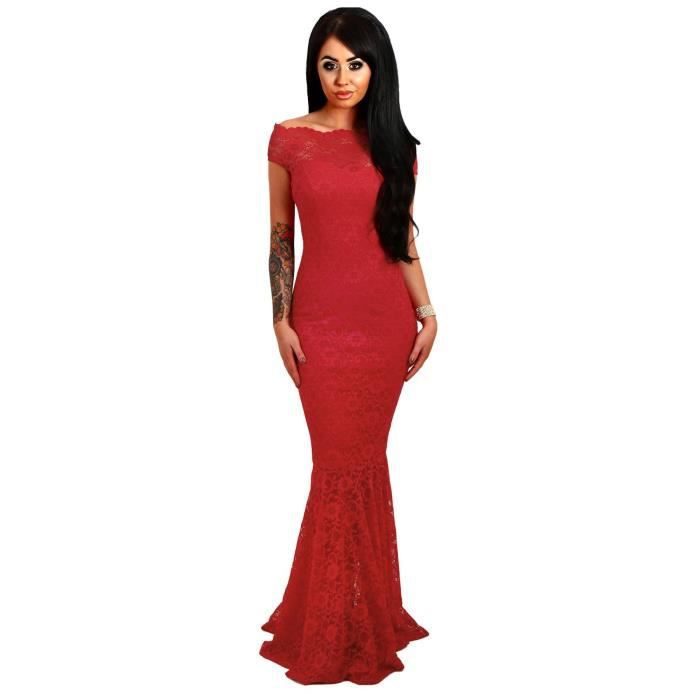 Womens Western Summer Cocktail Fishtal Dress (red) 1V3785 Taille-34